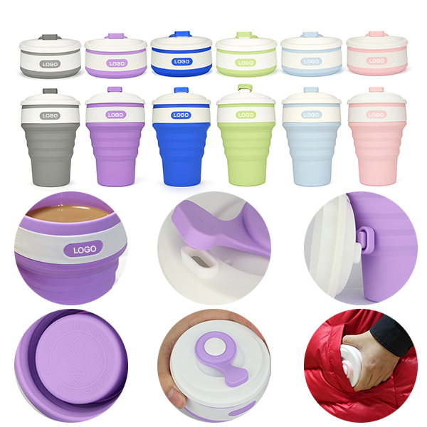 Collapsible Silicone Coffee Cups