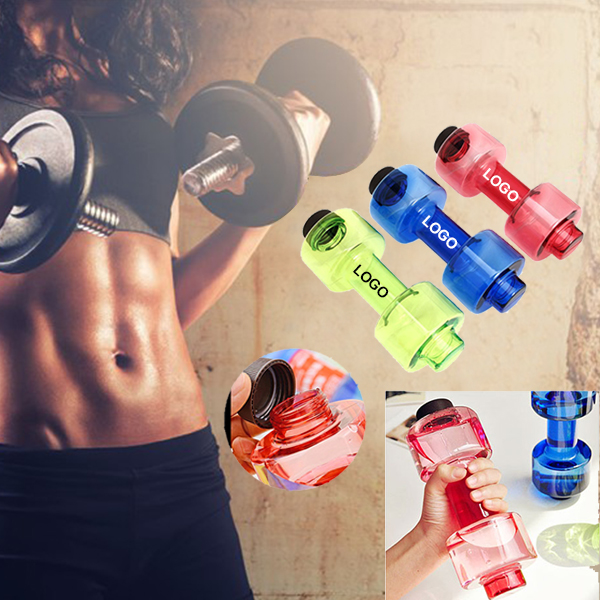 18 Oz Sports Fitness Dumbbell Plastic Bottle
