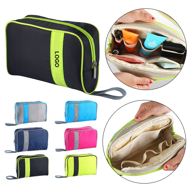 Zipper Cosmetics Storage Travel Bags