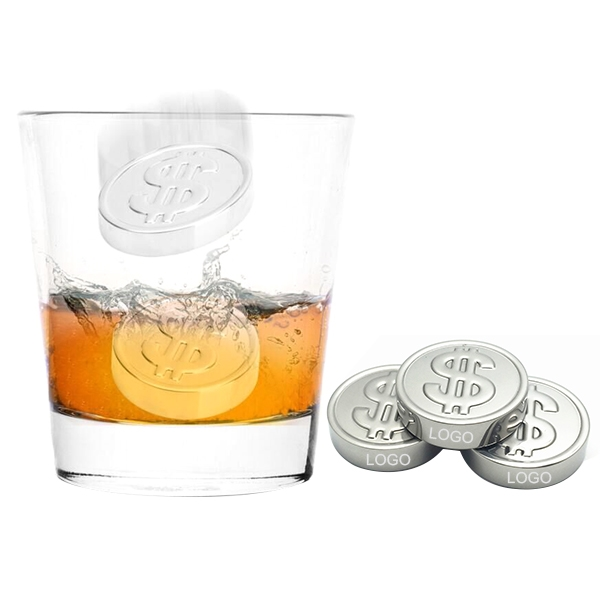 Dollar Shape Stainless Steel Ice Cube