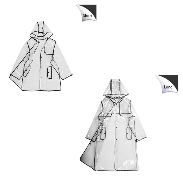 Fashion Transparent Raincoat