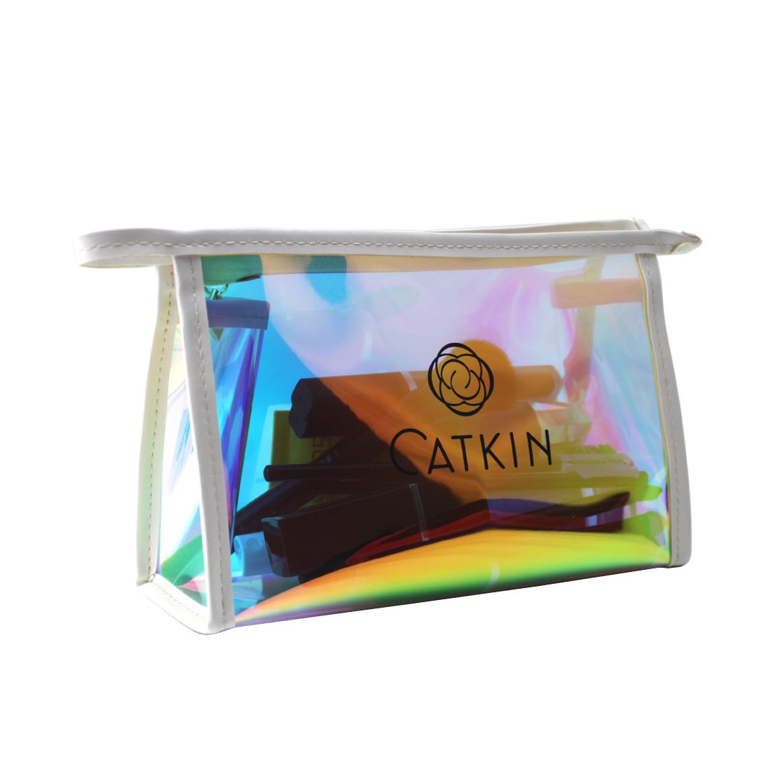 Clear Iridescent Travel Toiletry Bag